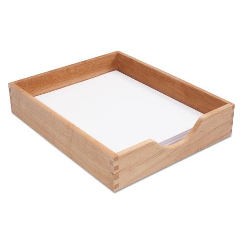 Cvr07211 Carver Hardwood Letter Stackable Desk Tray Zuma