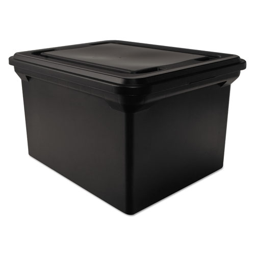 Avt34052 Advantus File Tote Storage Box W Lid Zuma