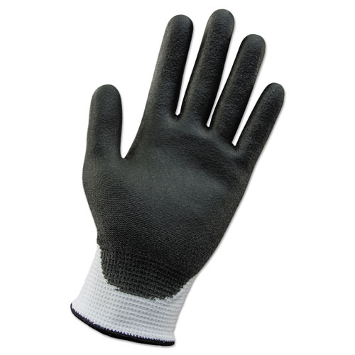 G60 ANSI Level 2 Cut-Resistant Gloves, White/Blk, 220 mm Length, Small, 12 Pairs
