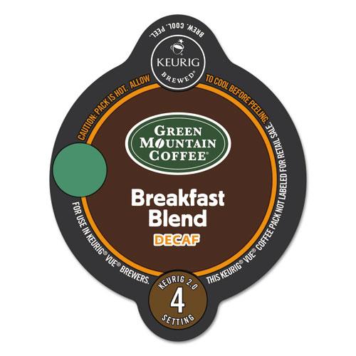 Green Mountain Coffee® Vue Packs, Breakfast Blend, Decaf, 16/Box