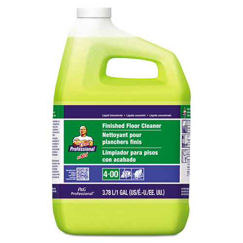 Finished Floor Cleaner, Lemon Scent, One Gallon Bottle, 3/Carton | by Plexsupply