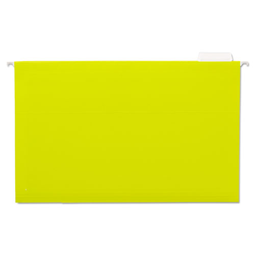 Hanging File Folders, 1/5 Tab, 11 Point Stock, Legal, Yellow, 25/Box