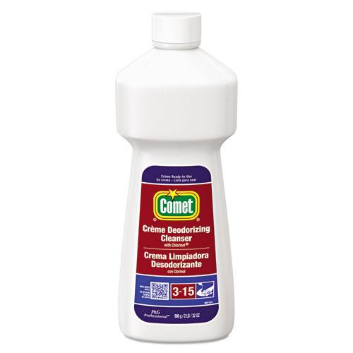 Comet® Crème Deodorizing Cleanser, 32oz Bottle, 10/Carton
