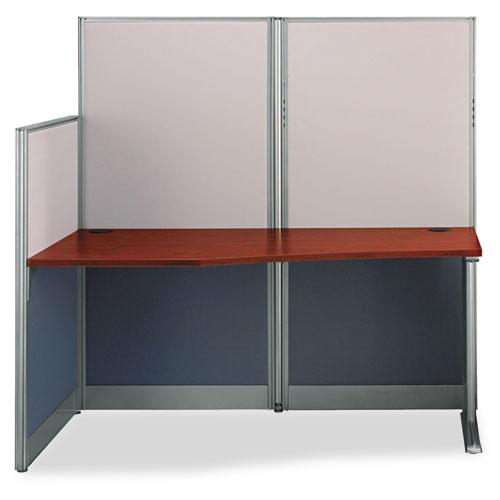 Bush® Straight Workstation (Box 1 of 2) Office-in-an-Hour, Hansen Cherry