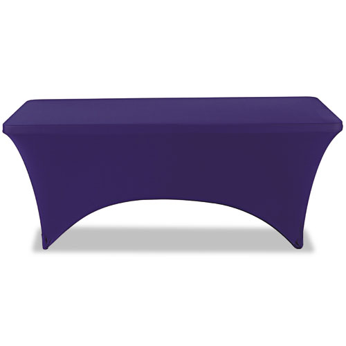 "Stretch-Fabric Table Cover, Polyester/Spandex, 30"" x 72"", Blue 