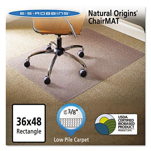 Natural Origins Chair Mat For Carpet 36 X 48 Clear Esr141028