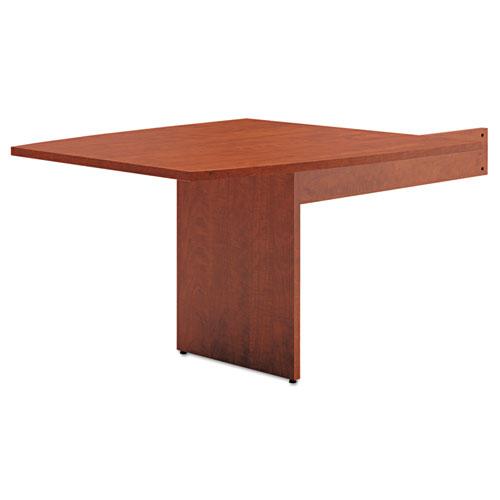 HON® BL Laminate Series Boat-Shape Modular Table End, 48 x 44 x 29 1/2, Medium Cherry