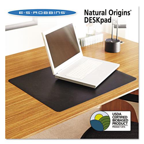 Natural Origins Desk Pad, 36 x 20, Matte, Black | by Plexsupply