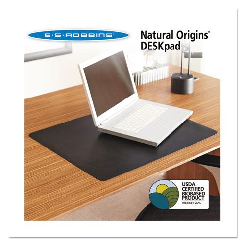 Natural Origins Desk Pad, 38 x 24, Matte, Black | by Plexsupply
