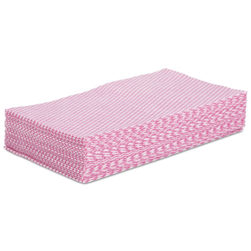 Foodservice Wipers, Pink/White, 12 x 21, 200/Carton