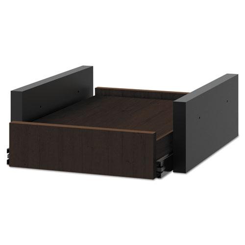 Hospitality Cabinet Sliding Shelf, 16 3/8w x 20d x 6h, Mocha