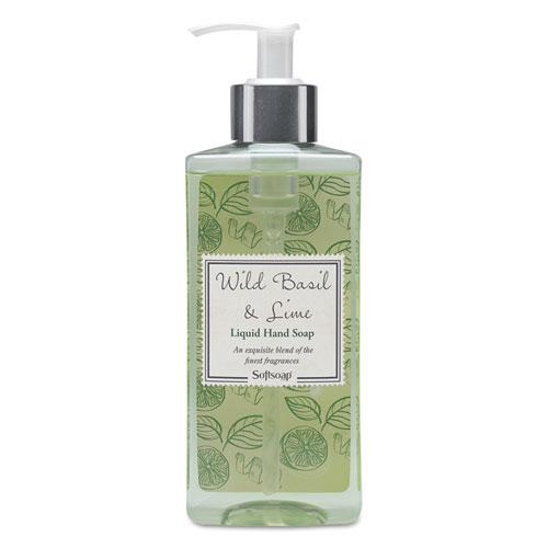 Softsoap® Elements Liquid Hand Soap, Wild Basil & Lime, 10 oz Pump Bottle, 6/Carton