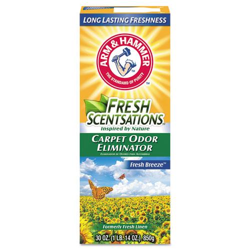 Fresh Scentsations Carpet Odor Eliminator, Fresh Breeze, 30 oz Box, 6/Carton | by Plexsupply