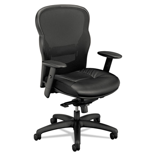 Wave Mesh High-Back Task Chair, Supports up to 250 lbs., Black Seat/Black Back, Black Base | by Plexsupply