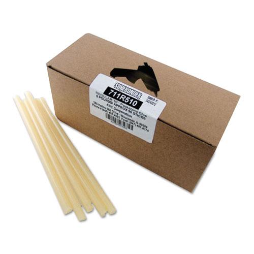 "Packaging Glue Sticks, 0.43"" x 10"", Dries Amber, 90/Box | by Plexsupply"