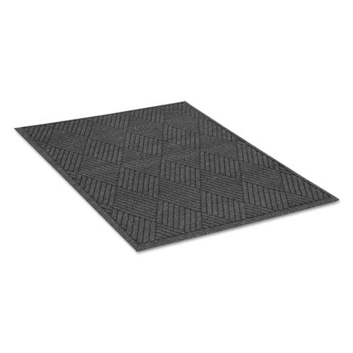 EcoGuard Diamond Floor Mat, Rectangular, 48 x 72, Charcoal EGDFB040604