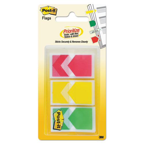 """Arrow 1"""" Prioritization Page Flags, Red/Yellow/Green, 60/Pack 