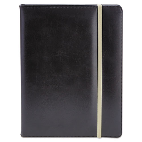 Padfolio, 8 1/2 x 11, Vinyl, Black | by Plexsupply