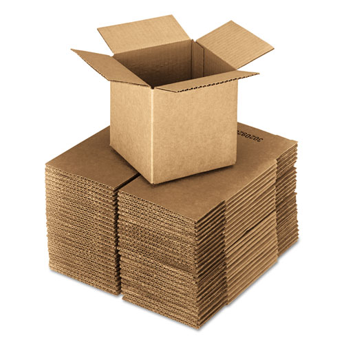 Cubed Fixed-Depth Shipping Boxes, Regular Slotted Container (RSC), 24 x 24 x 24, Brown Kraft, 10/Bundle