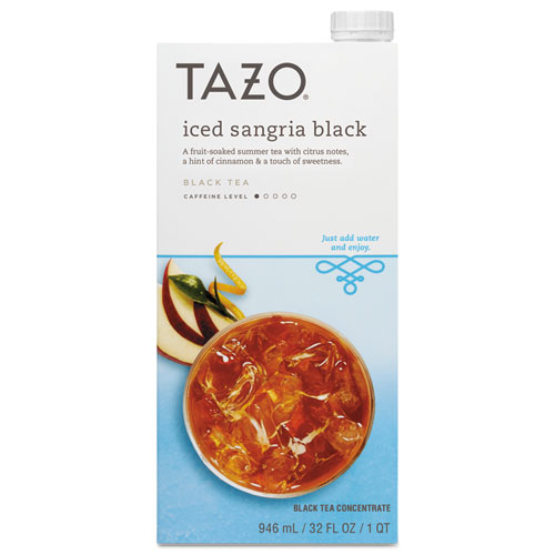 Iced Tea Concentrate, Iced Sangria Black, 32 oz Tetra Pak, 6/Carton 11041595