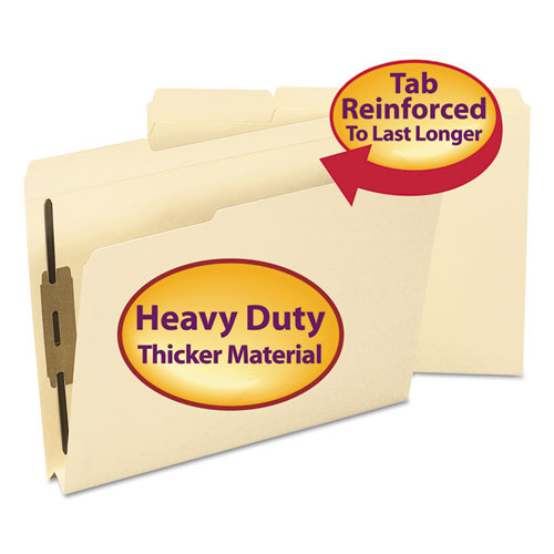 Top Tab Manila Expansion 2-Fastener Folders, 1/3-Cut Tabs, Letter Size, 50/Box | by Plexsupply