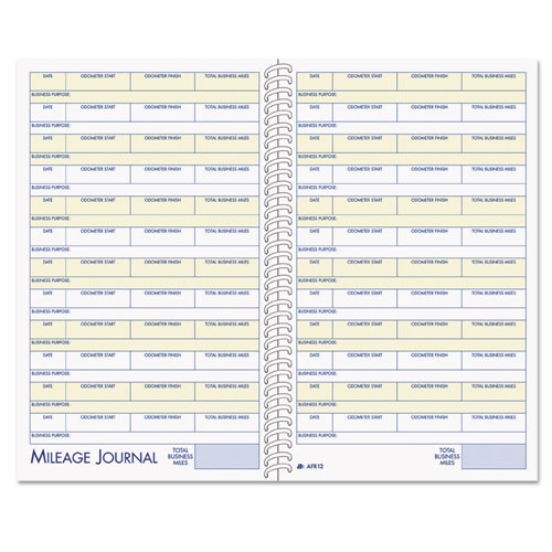 Vehicle Mileage and Expense Book, 5 1/4 x 8 1/2, 49 Forms, 63 Pages | by Plexsupply