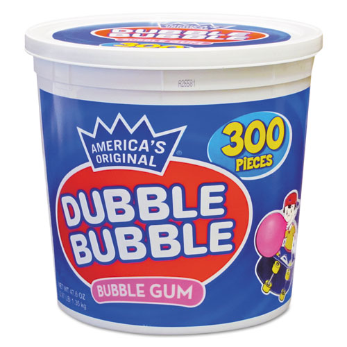 Dubble Bubble Bubble Gum, Original Pink, 300/Tub