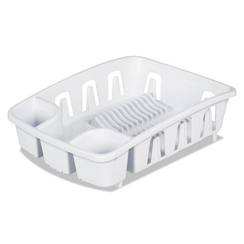 Drain Rack, White, Plastic, 5 3/8 x 17 5/8 x 3 DR01WH