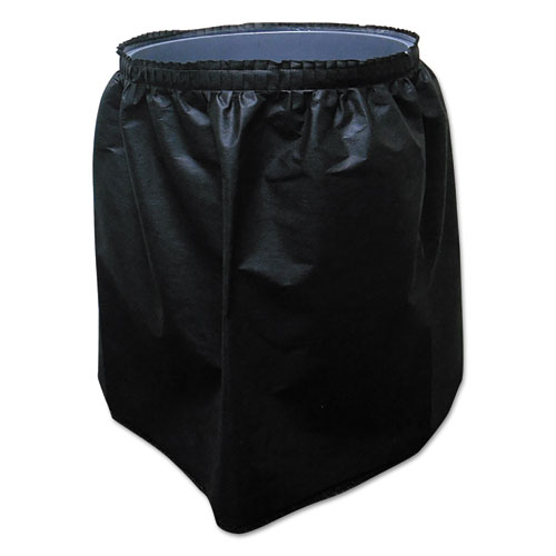Tablemate® Trash Can Skirt for 32 Gallon Round Receptacle, Black