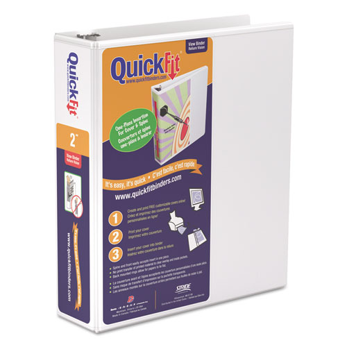 Quickfit D Ring View Binder 2 Quot Capacity 8 1 2 X 11