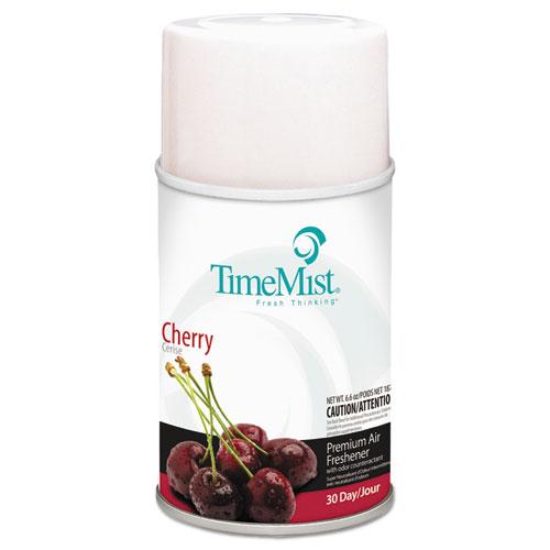 Premium Metered Air Freshener Refill, Cherry, 6.6 oz Aerosol, 12/Carton