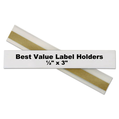 Self Adhesive Label Holders Top Load 1 2 X 3 Clear 50