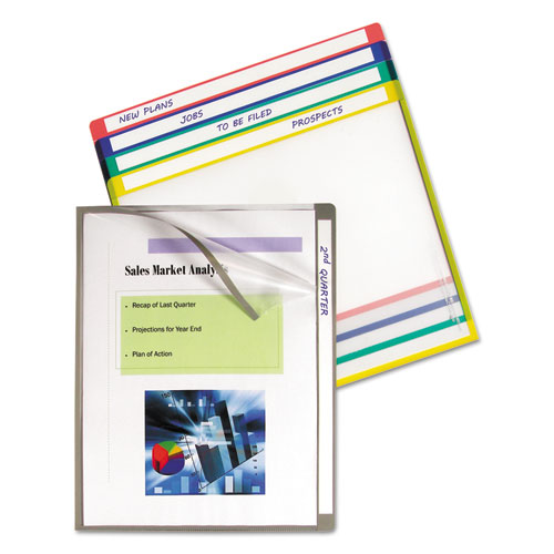 Write-On Project Folders, Straight Tab, Letter Size, Assorted Colors, 25/Box | by Plexsupply