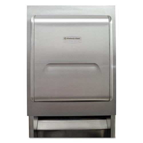 MOD Recessed Dispenser Housing w/Trim Panel, Stainless Steel, 11.13x4x15.37