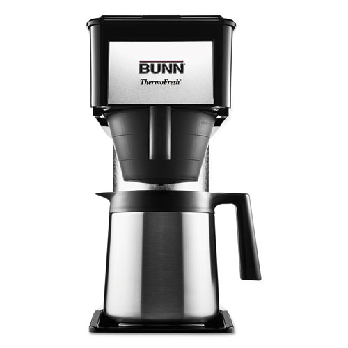 BUNN® 10-Cup Velocity Brew BT Thermal Coffee Brewer, Black, Stainless Steel
