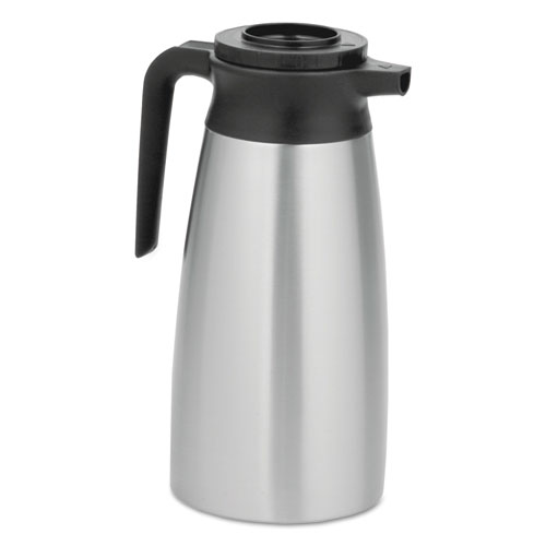 BUNN® 1.9 Liter Thermal Pitcher, Stainless Steel/Black