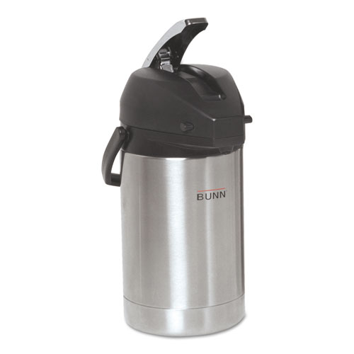 2.5 Liter Lever Action Airpot, Stainless Steel | by Plexsupply