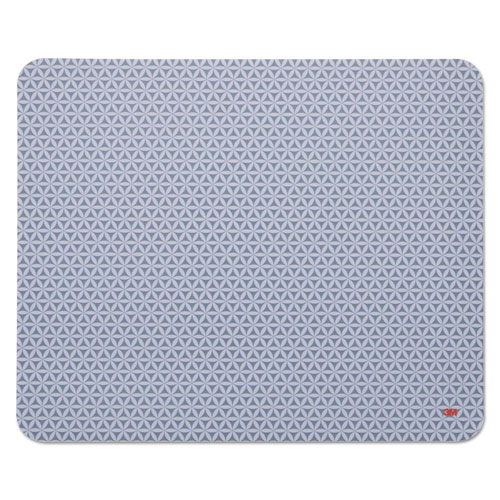 Precise Mouse Pad, Nonskid Repositionable Adhesive Back, 8 1/2 x 7, Gray/Bitmap | by Plexsupply