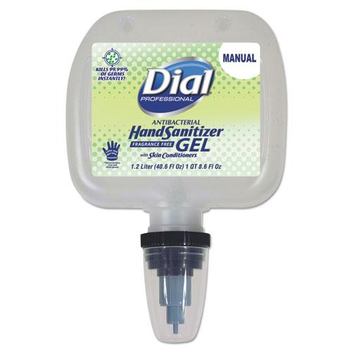 Dial® Professional Antibacterial Gel Hand Sanitizer, 1.2 L Refill, Fragrance-Free