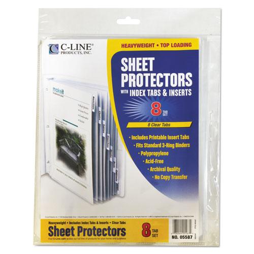 Cli05587 C Line Sheet Protectors With Index Tabs Zuma