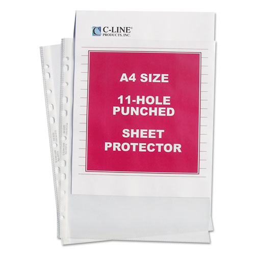 "Standard Weight Poly Sheet Protectors, Clear, 2"", 11 3/4 x 8 1/4, 50/BX 