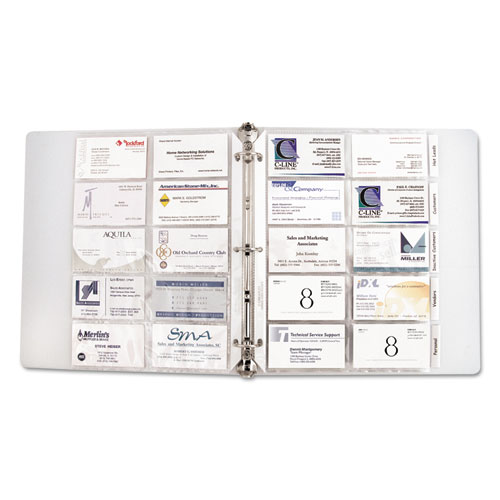 CLI C Line Business Card Binder Pages Zuma