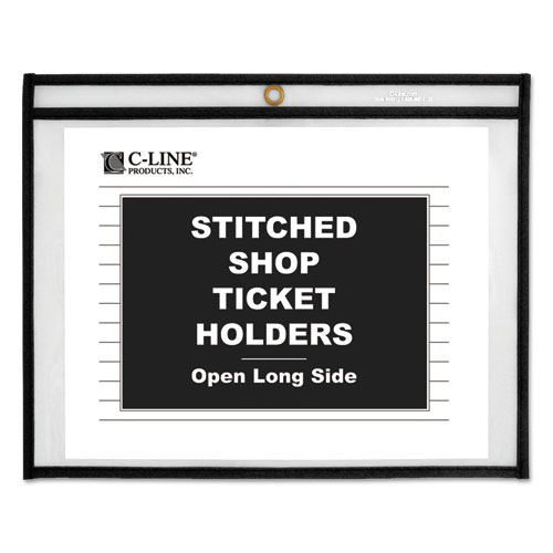 SHOP TICKET HOLDERS, STITCHED, BOTH SIDES CLEAR, 75 SHEETS, 12 X 9, 25/BOX
