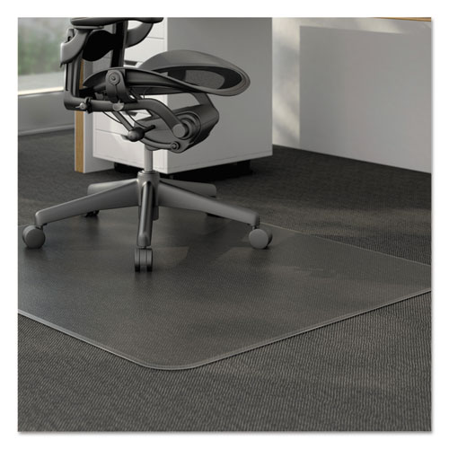 Moderate Use Studded Chair Mat for Low Pile Carpet, 46 x 60, Rectangular, Clear