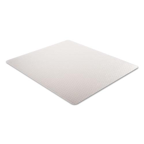 Studded chair mat for low pile carpet 46 x 60 clear zuma - Deep pile carpet protector ...