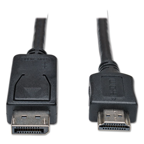 DisplayPort to HDMI Cable Adapter (M/M), 6 ft., Black | by Plexsupply