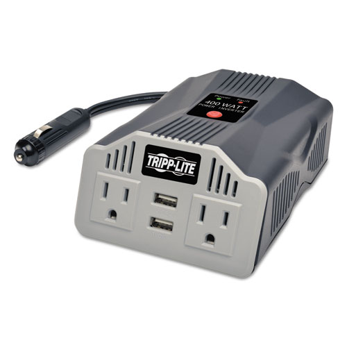 PowerVerter Ultra-Compact Car Inverter, 400W, 2 AC/2 USB, 3.1A