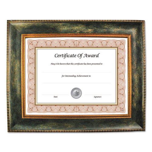Executive Series Document and Photo Frame, 8 1/2 x 11, Brown Frame | by Plexsupply