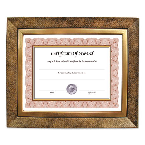 Executive Series Document and Photo Frame, 8 x 10, Gold Frame | by Plexsupply