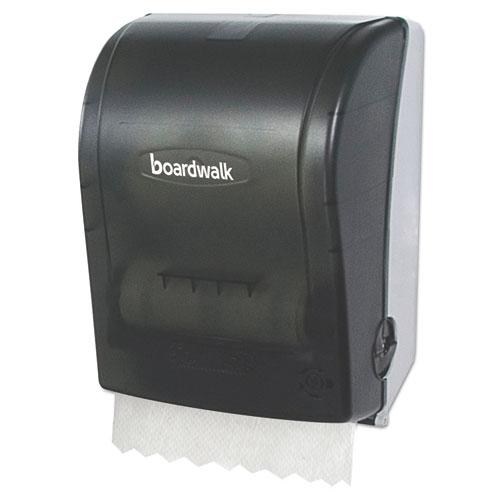 Hands Free Mechanical Towel Dispenser, 9 3/4 x 16 7/8 x 12 3/8, Smoke Black